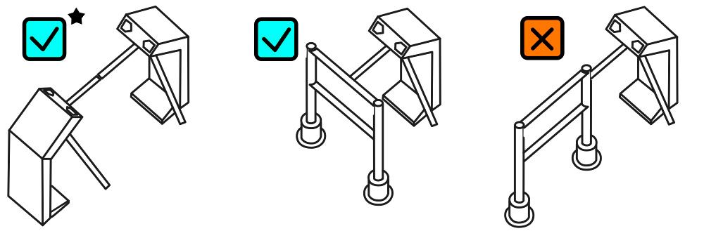 Турникет-дуопод RUSGATE T2-M-SF v.1.1